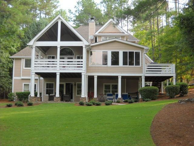 Reynolds Plantation Lake House (seen from lawn) - Reynolds Lake Oconee, GA  Lake-Front Home, 5 Stars - Greensboro - rentals