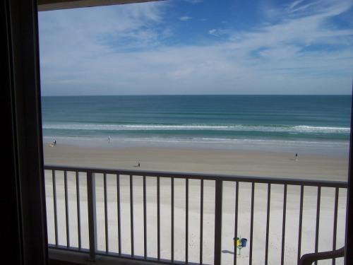 view from balcony - Oceanfront condo,private beach,Daytona - Ponce Inlet - rentals