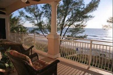 Rear Deck View - Luxury Beachfront Penthouse on Sunset Beach! - Treasure Island - rentals