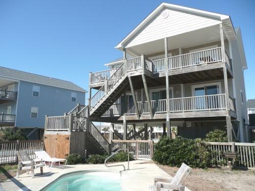 Pool Side - Oceanside Home, Private Pool, Beautiful! - Holly Ridge - rentals