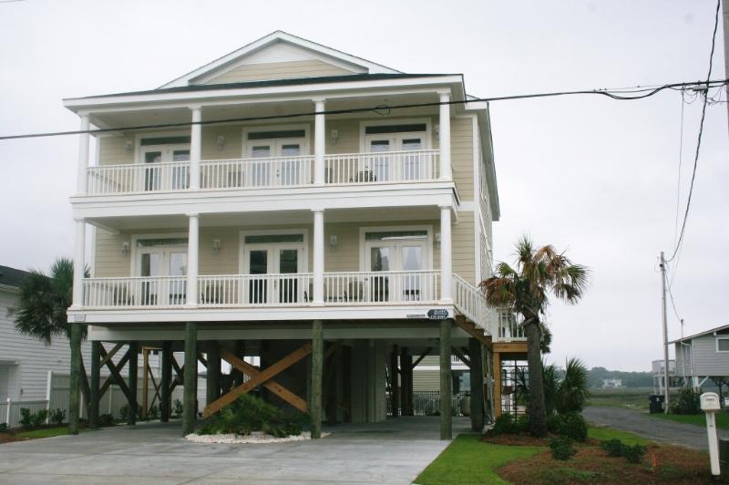 Streetside View - Oceanview 7 B/R w/ Pool, Hot Tub & Elevator - Murrells Inlet - rentals