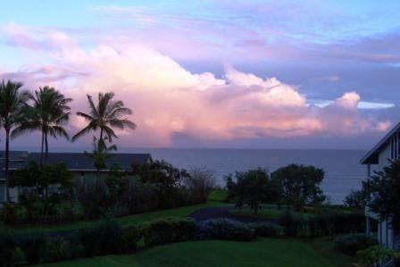 Sunset view from the ocean-front lanai. - Amazing Ocean view 2 Bed /2 Bath Condo - Princeville - rentals