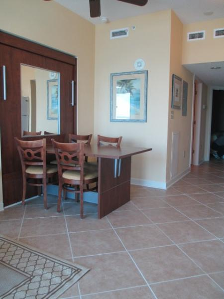 A view of the table and the new tiles - BOOK OUR 1 BR OCEANFRONT CONDO @ 2016 RATES!! - Myrtle Beach - rentals