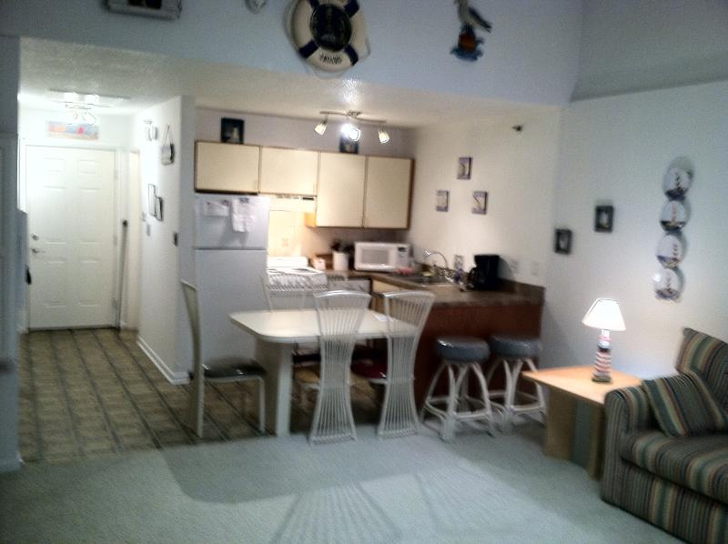 View of Kitchen from Living Room - Awesome, Clean, Spacious Studio Sleeps 6!  Easy walk to Beach and Boardwalk! - Ocean City - rentals