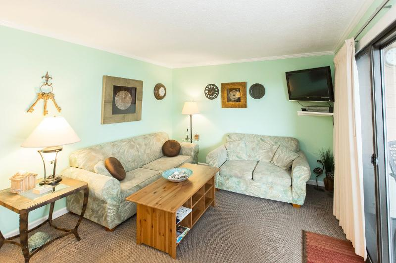 Living Room - Oceanview 2 BR Condo with Balcony Bar at Myrtle Be - Myrtle Beach - rentals
