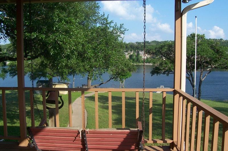 View of Lake from Porch - Easy walk to water - Family HM w/Dock--Sleeps 8 - Spicewood - rentals