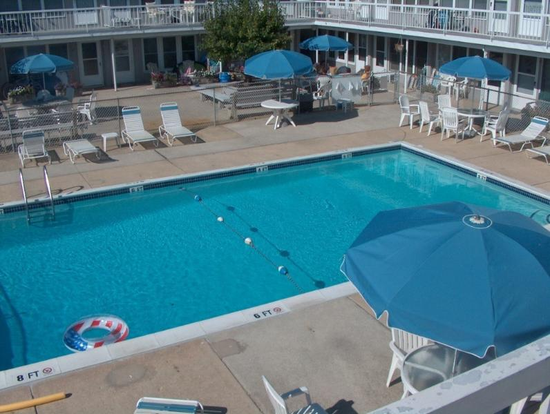 THE LUXURY OF A LARGE, CLEAN POOL AFTER YOU LEAVE THE OCEAN BEACH. - 1 BEDROOM CONDO-52 SECONDS TO OCEAN BY FOOT!!!!!!! - Brigantine - rentals