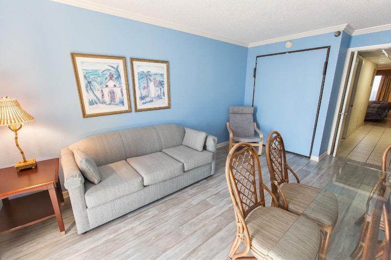 Living Room - Oceanfront Condo: Aug 20-27 $795 Total - Myrtle Beach - rentals