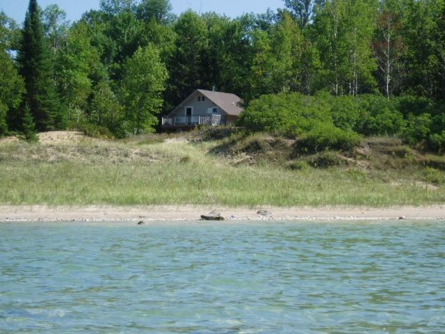 view from water 100 yards - Traverse City Lake Michigan Waterfront priv, Beach - Sunday to Sunday - Kewadin - rentals