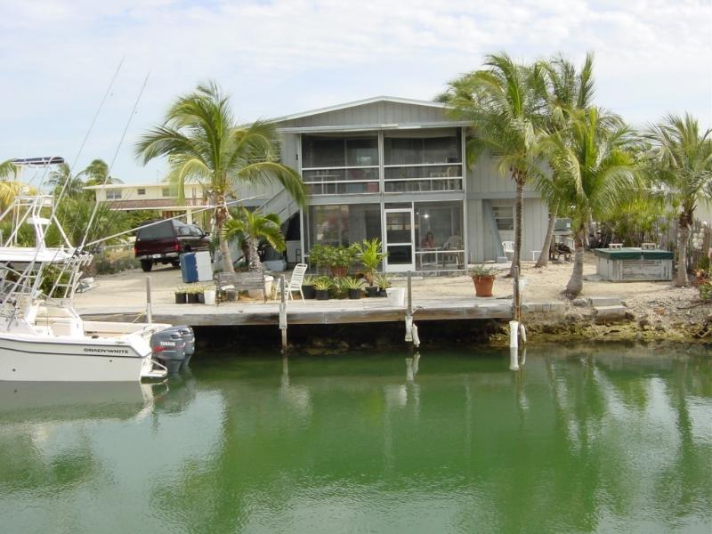 water view - 2 story house on Tavernier Creek canal oceanside - Tavernier - rentals