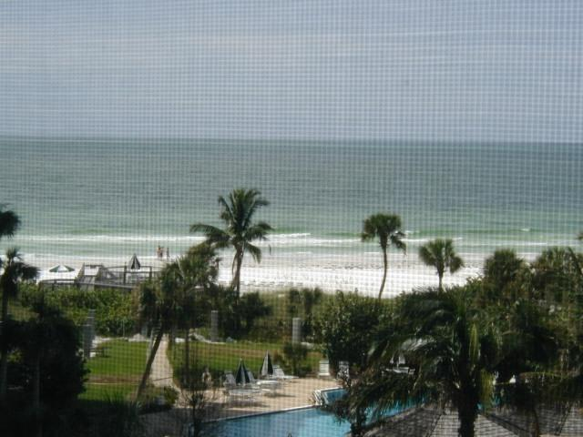 View from livingroom - On Crescent Beach with panaramic veiws of the gulf - Sarasota - rentals