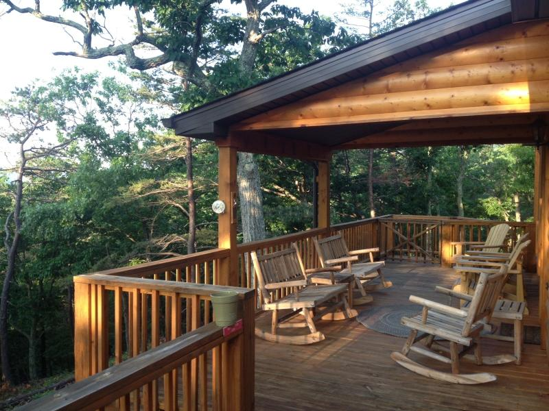 Relax on the back deck :) - Private/Romantic Pet Friendly Cabin WV- Owl's Nest - Petersburg - rentals