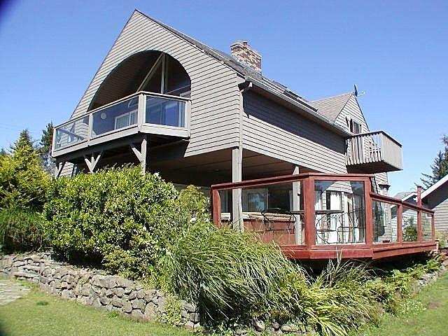 Ocean Side of House - Ocean Overlook w/Ocean Views, Hot Tub, & Wi-Fi - Lincoln City - rentals