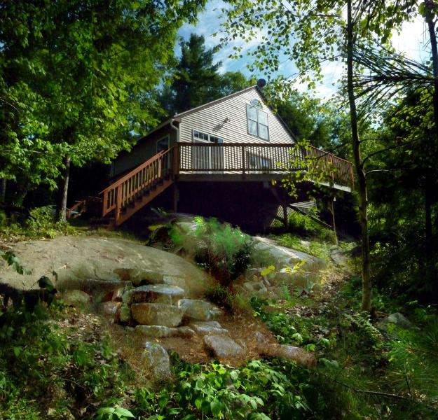 Lakeside cottage in Summer - Secluded , Romantic Maine Cottage on Mountain Lake - Augusta - rentals