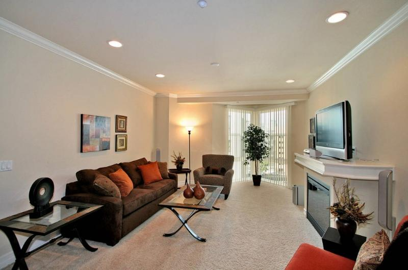 Spacious and airy living room, queen sofa-bed - 'Island' in the Sky! Penthouse wtih rooftop deck! - San Diego - rentals