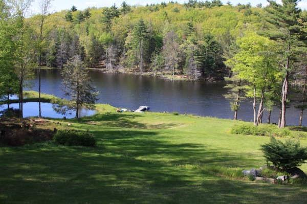 Lakeview from the house - Lakefront Rustic House on 31 acres on Its Own Lake - Tafton - rentals