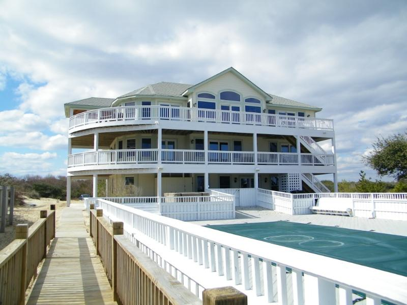View of Side That Faces Ocean - OCEANFRONT 14 Bedrooms... PRIME Weeks Now On Sale! We Rent 4x4's - Corolla - rentals