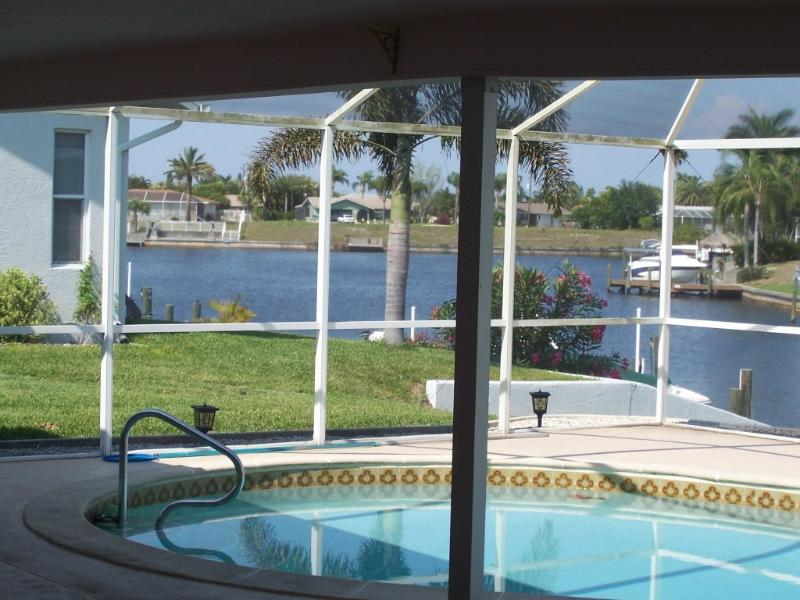 Lanai and View of Canal - Beautiful View Golf Access Newly Renovated - Cape Coral - rentals