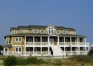 The Hemingway Front View - OCEANFRONT 14 B.R. MANSION, The Hemingway - Corolla - rentals
