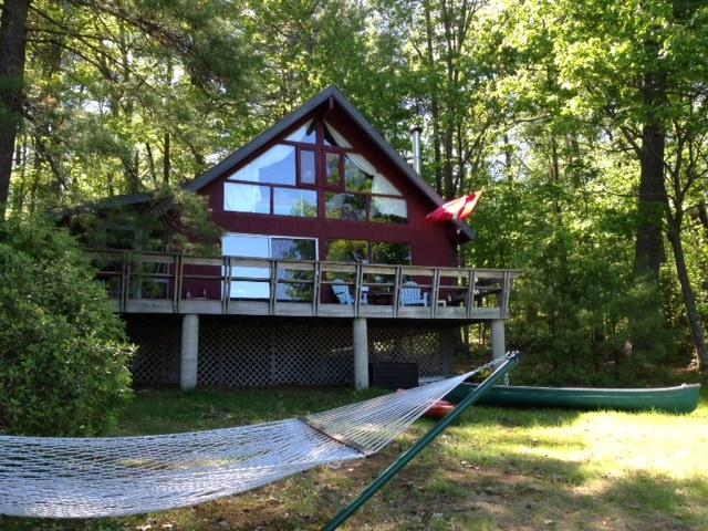 House facing lake - Lake House with over 200 feet of waterfront beach - Denmark - rentals