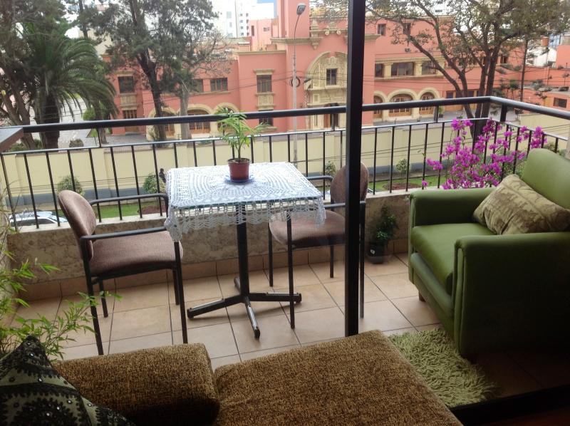 Beautiful view from the balcony - Unique apartment  in the best Miraflores location! - Barranco - rentals