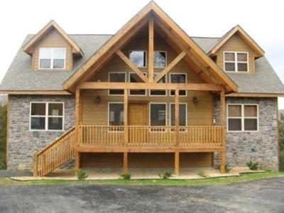 Front view of house - Double H Lodge. Formerly Kenny's Willow Oak Lodge - Branson - rentals
