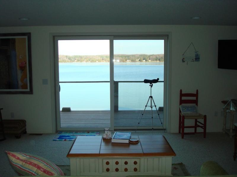 Main Level - Your View from inside or step out onto large balcony & relax - Charlevoix Waterfront 2 Plus Bed/2.5Bth  BOAT SLIP - East Jordan - rentals
