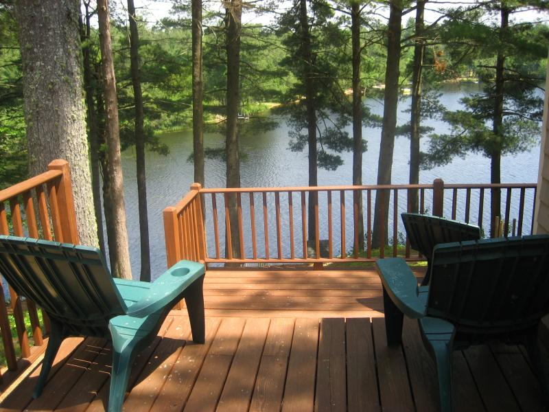 Deck with view of lake - Charming Maine Lakefront Cottage 2 hrs from Boston - Waterboro - rentals