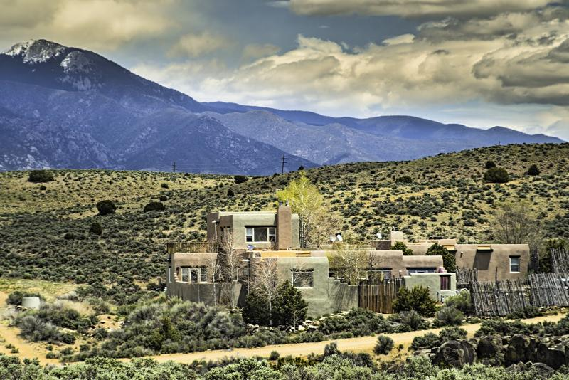 View of 4-unit complex and Taos Mountain - Casa del Arroyo Taos - Taos - rentals