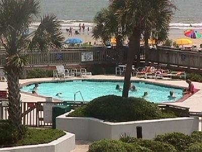 One of two ocean front pools for your use - 1ST FL Pristine - Quiet UPDATED Condo - Myrtle Beach - rentals