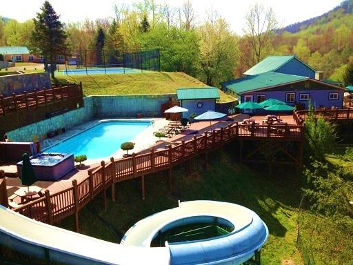 Your own private water park! - PRIVATE GATED PROPERTY: HEATED POOL/SLIDE - Gerton - rentals