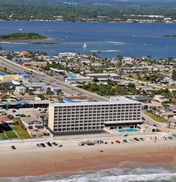 Pirates Cove Aerial View - Daytona Beach Oceanfront Studio Pirates Cove Hotel - Daytona Beach - rentals