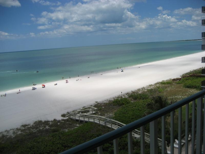 view from balcony - Apollo, Beachfront Condo - directly at the beach - Marco Island - rentals