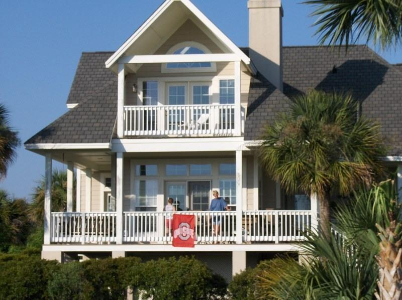 Rear of House - Golf Course Luxurious Home - Near Beach - Seabrook Island - rentals