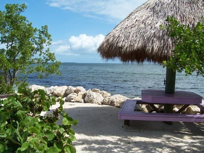 Chickee and table on my beach on the Ocean - Key Largo Rental Fantastic Views - Key Largo - rentals