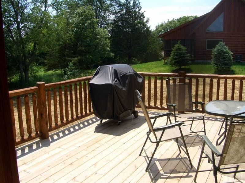 porch with bbq - Luxury 3.5BR Log House - Near Lake Galena - Galena - rentals