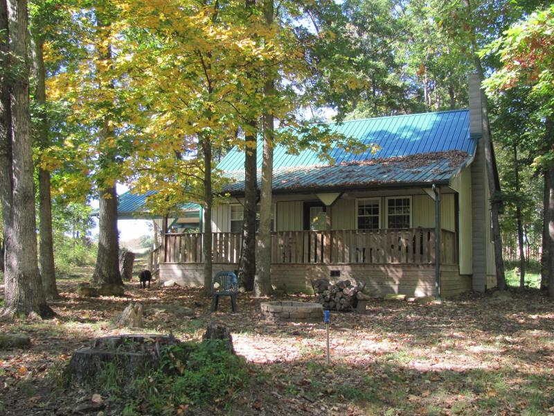Our cabin is nestled in a quiet woods. - Adams County Cabin Rental - Home Away From Home - Peebles - rentals