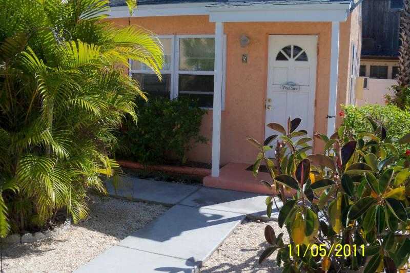Entrance to Cottage - Cottage on Treasure Island in the Gulf of Mexico - Treasure Island - rentals