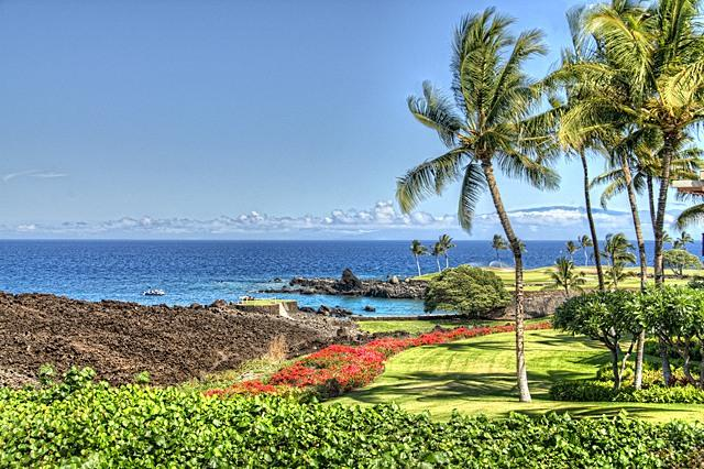 Direct view from F-101 - Mauna Lani Point Direct Oceanfront Sunset View - Mauna Lani - rentals