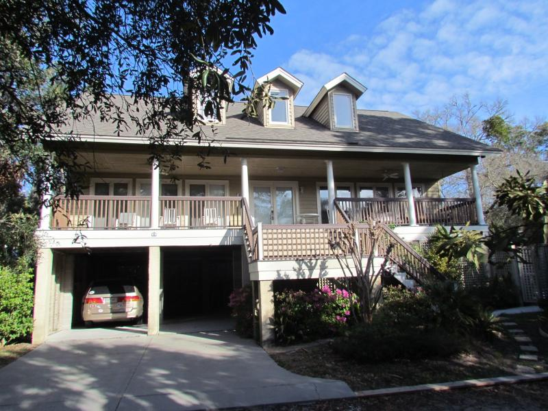 House Front - 2nd Row, Tropical 7BR/5BA Pool & Hot Tub - Hilton Head - rentals