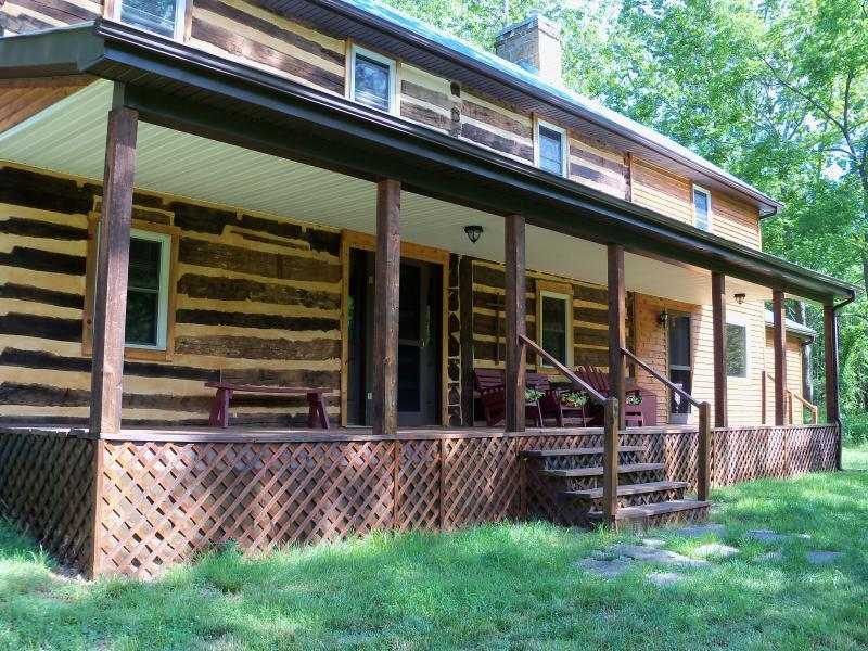 Front view of log house - Cowger Guest House & Rustic Camping Area - Brandywine - rentals