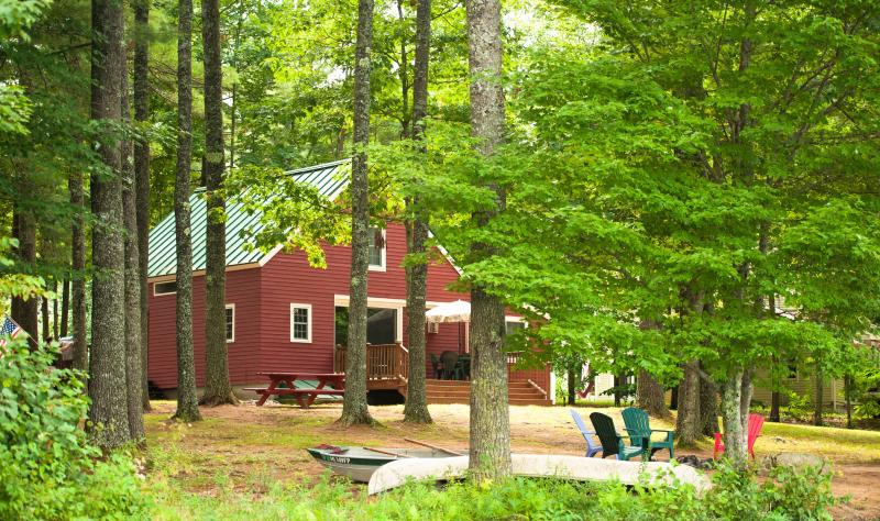 House seen from the lake - Waterfront Lake House - Waterboro - rentals