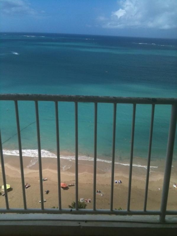This view is from balcony, living and even kitchen! - Incredible View, Beachfront Condo - Isla Verde - rentals