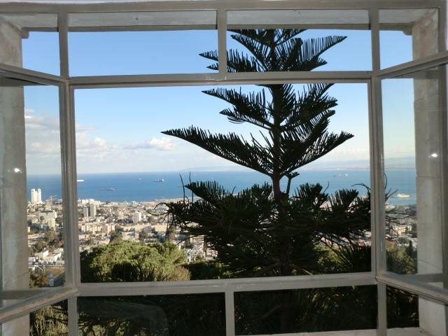 View from Living room window - Mount  Carmel, adjacent to the Bahai Gardens - Haifa - rentals