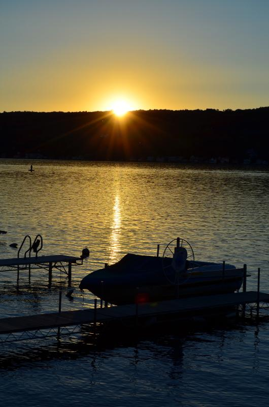 One of many different sunsets you'll see from our deck! - Autumn Stays Still Available! - Keuka Lake - rentals