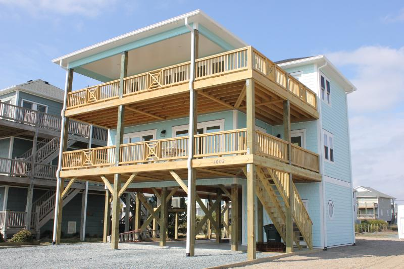 Front of C-Esta - Great Water Views in this Spacious House! - Topsail Beach - rentals