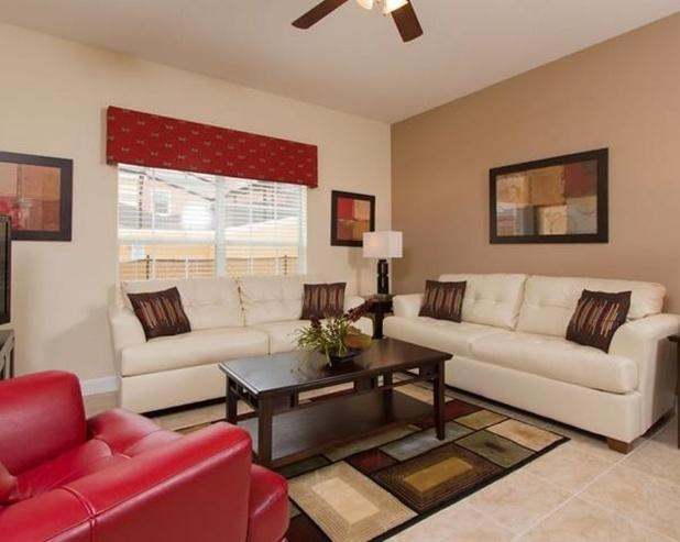 Living Room - Disney Palm: 4BR Townhome in Paradise Palms Resort - Four Corners - rentals