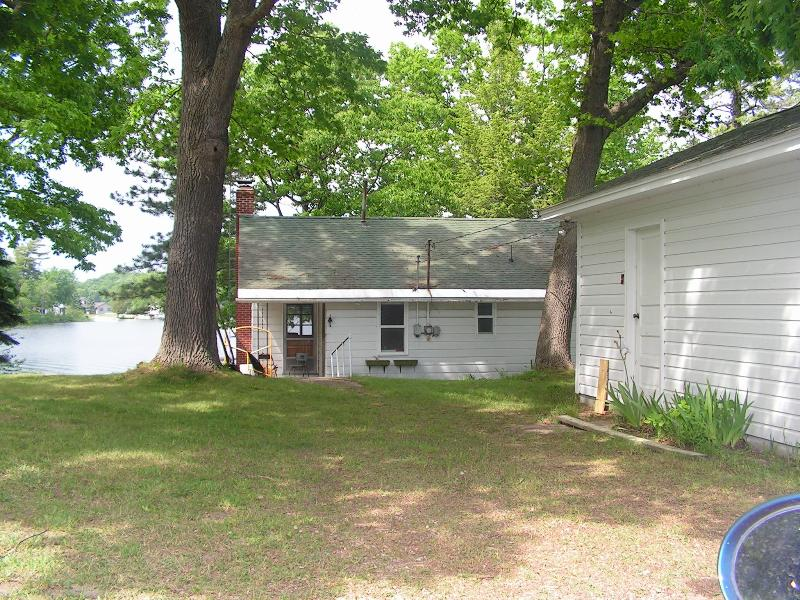 2 bedroom cottage/garage from street view - FISH! HUNT! HIKE!  AFFORDABLE WATERFRONT HOME!! - Irons - rentals