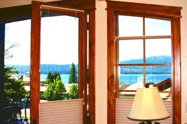 Master Bedroom views of Payette Lake and Brundage Mtn. - Downtown Park Street Penthouse 1 (West) - McCall - rentals