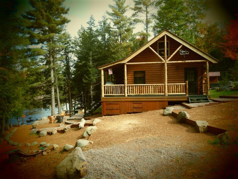 West side of cabin/parking - Adirondack Riverfront Cabin - Harrisville - rentals